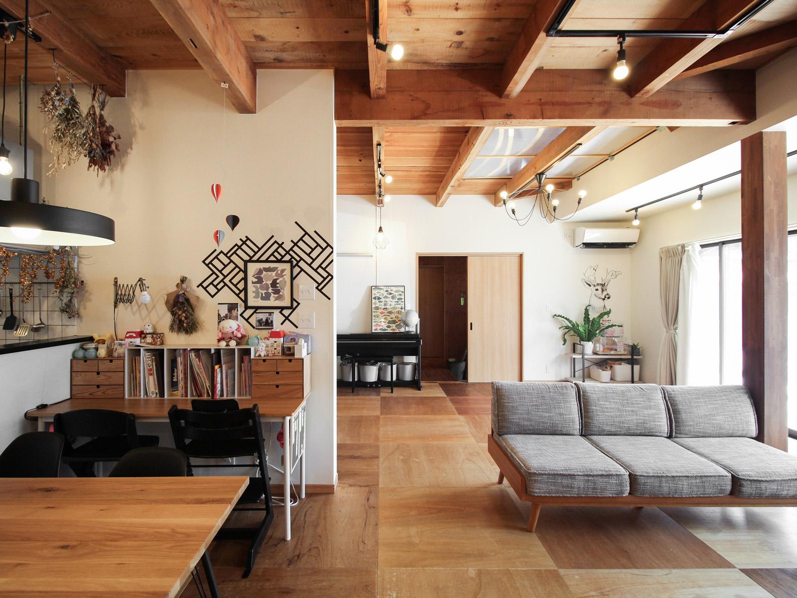 リノベーション済み一戸建てin西尾市 家族4人がのびのび暮らせる大空間